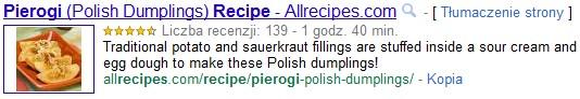Przepis na allrecipes.com